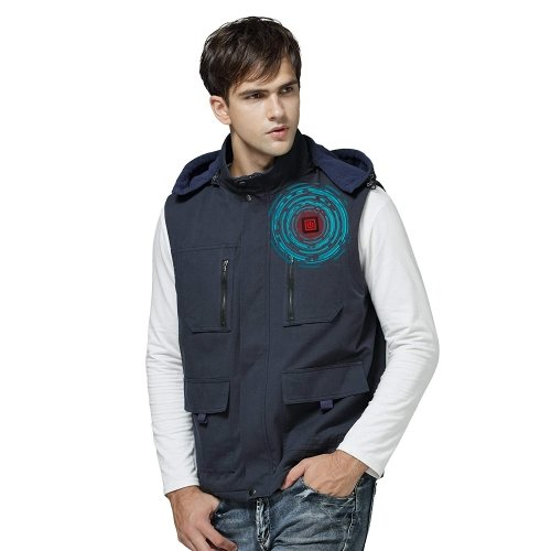Heated Vests Thermal Men Woman Vest for Winter(Dark blue)