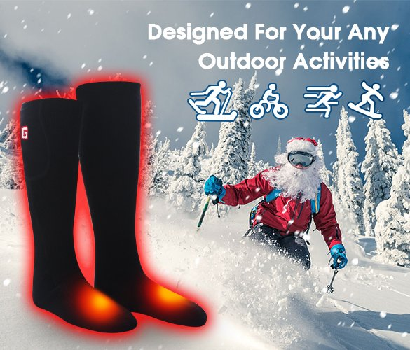 Rechargeable heated socks