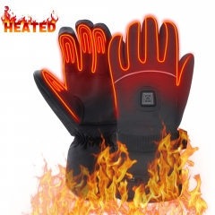 7.4 V Heated Gloves Waterproof Rechargeable Battery Heated Gloves Touchscreen Hand Warmer Gloves for Cold Winter XL