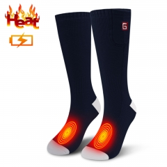 3.7V Electric Heated Socks with Rechargeable Battery for Chronically Cold Feet Large Size(Dark blue-one size)